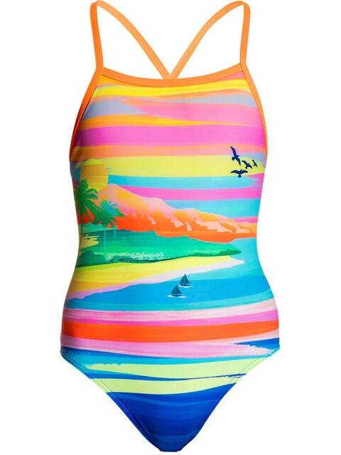 Funkita Tie Me Tight One Piece Swimsuit Girls Pina Colada